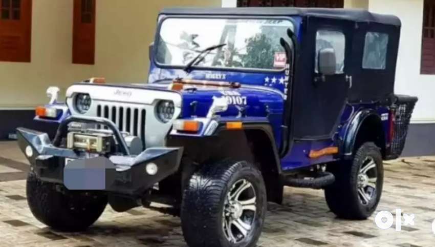 Blue new modified jeep 0