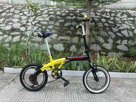 sepeda lipat ukuran 16 cocok buat cewek