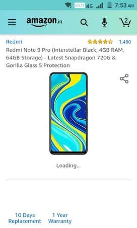 Redmi note9pro 4/64