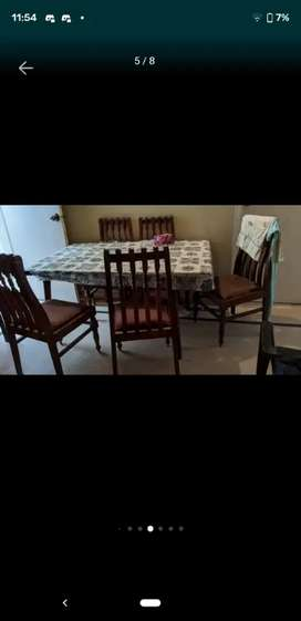 Wooded dining table 6 chaira