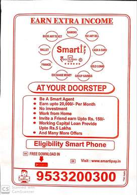 Urgent requirement for male and female in smart i pay.salary-10,000/-