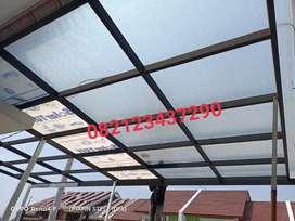 Specialist pemasangan kanopi solarflat canopy solarflet murah tanpa dp