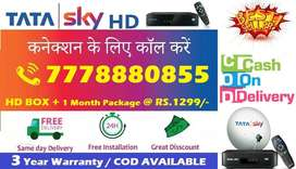 Cash On Delivery- Tata sky DTH -Airtel Dish tv D2H Tatasky - All India