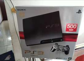PS 3 Slim MULPIS Hdd 500 GB Lkp 50 Game 2 Stik fullset kantun ngangge