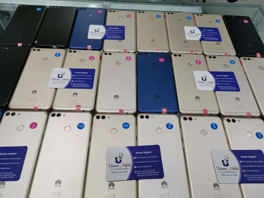 Huawei y9 64gb and 128gb all colors available 100pieces in stock USAMA 0