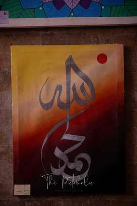 Oil painting Caligraphy