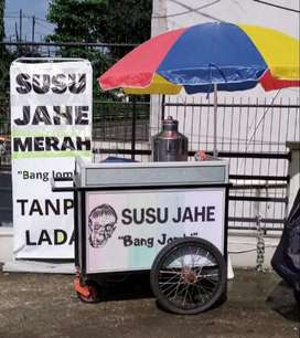 Dijual Paket Usaha Gerobak Susu Jahe