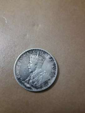 Old silver coin british