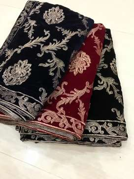 NEW VELVET EMBROIDERY SHAWLS COLLECTION*