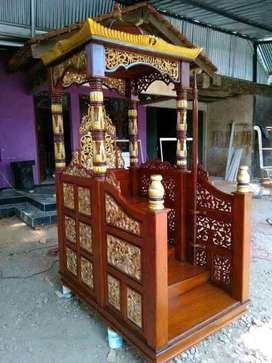 mimbar masjid kubah jati terlaris 018