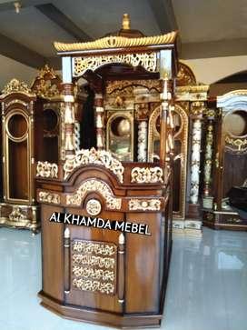 Ready Mimbar Masjid Material Kayu Jati Berkualitas #629