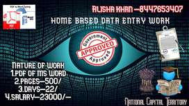 home based data entry work from govt company