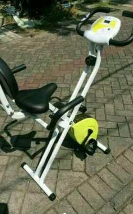 Sepeda fitnes X bike sandaran murah