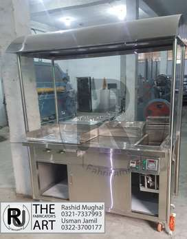 Fast Food counter with Hotplate and Fryer (Round Counter)