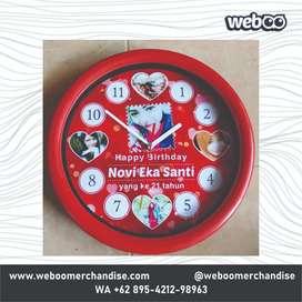 Jual Cetak Custom Souvenir Jam Dinding