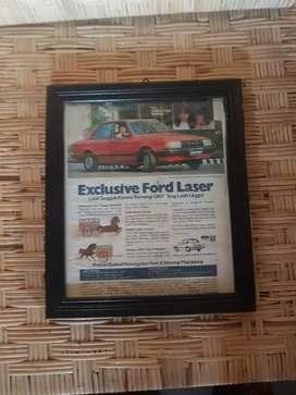 iklan sign kertas original exclusive ford laser lawas tempoe doeloe