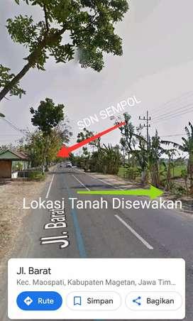 TANAH/PERKARANGAN SAMPING JL RAYA SEWA/KONTRAK RAYA SEMPOL - MAOSPATI