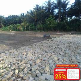 Cash Diskon 25%: Tanah Depok  Depok 4 Jt-an Legalitas SHM
