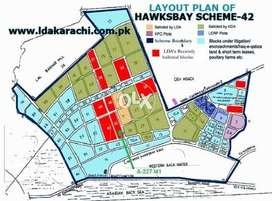 120 Sq Yards Residential Plot Scheme 42 Hawksbay