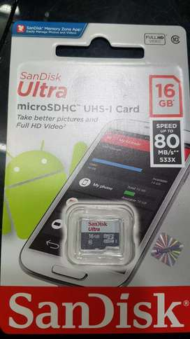 Memorycard 16gb class 10 sandisk original