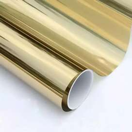Golden one side glass paper