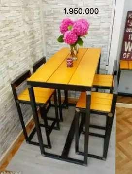 Meja makan meja restaurant meja coffeeshop meja cafe coffeetable