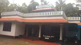 24 cent land with 1700 sqft house at kanjoor,near airport,aluva,kalady