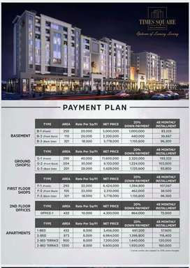 Single bed apartments 4years instalments