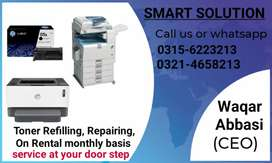 Toner refill, repair and sale of printers and copiers.