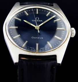 Omega Genève Winding Rare Blue Dial Vintage Wrist Watch (ROLEX BUYER)