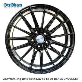 JUAL VELG JUPITER R18X8 H5X114,3 ET35 BLACK UNDERCUT HRV BRV CRV.
