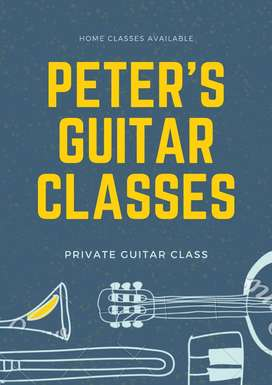 Guitar private classes full professional guidance