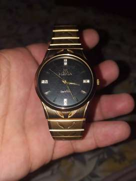 Mema quartz.  Gold plated.  10/10 condition