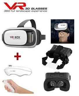 online VR BOX 2.0 Virtual Reality 3D Glasses + Bluetooth Remote Contr
