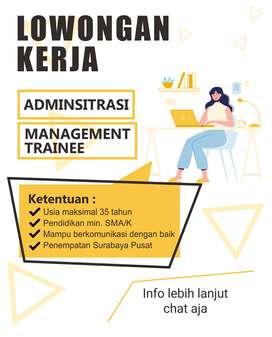 Loker Administrasi dan Management Trainee Surabaya