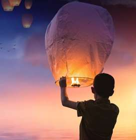 Sky Lantern Chinese Paper Sky Flying Wishing Lantern Lamp Candle Party