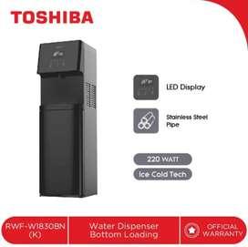 TOSHIBA Dispenser Air Galon Bawah RWF-W1830BN(K) Bottom Loading - Low