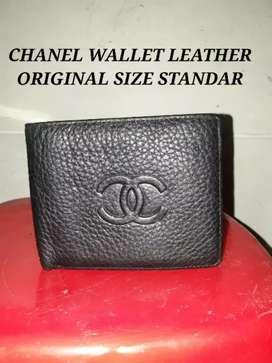 CHANEL WALLET LEATHER ORIGINAL size standar kondisi mulus kulit asli