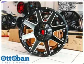 Velg Triton Everest Fortuner Pajero Havox 8 R20X9 hole 6x139.7 ET20
