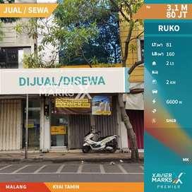 Dijual RUKO 2 Lantai di Kyai Tamin Malang Letak Strategis dan Ramai