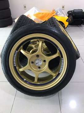 Velg Advan RG I Ring 16 Original Made In Japan Berikut Ban Bridgestone