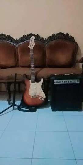 Gitar + ampli + stand gitar