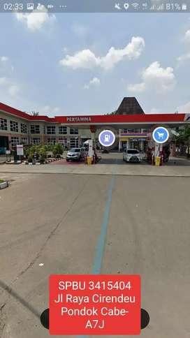 DIJUAL SPBU 3415404 Jl. Raya Cirendeu Pondok Cabe Ciputat TangSel