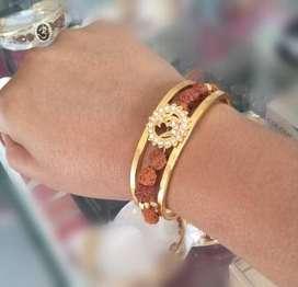 Men's Rudraksh Gold plated Bracelet