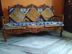 Very nice wooden sofa..Brown colour. Polis wood..Sell price 15000 Rs.