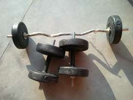 Gym Set. Weight and rod New