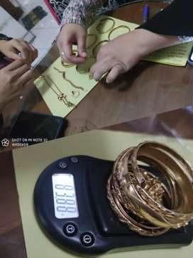 Dibeli Ditampung Harga Tinggi Emas Perhiasan/Buyback Antam/Berlian/COD