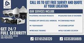 CCTV security Camera with installation (Hikvision)