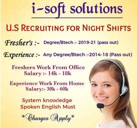 Work From Home - Night Shifts US IT Recruiting