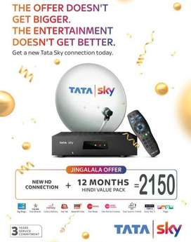 TATA SKY | NEW LAUNCH | TATASKY ANNUAL PACK | FREE BOOKING | AIRTEL